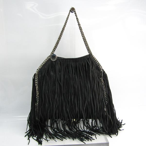 Stella McCartney Fringe 261063 W9645 Women's Polyester,Suede Tote Bag Black