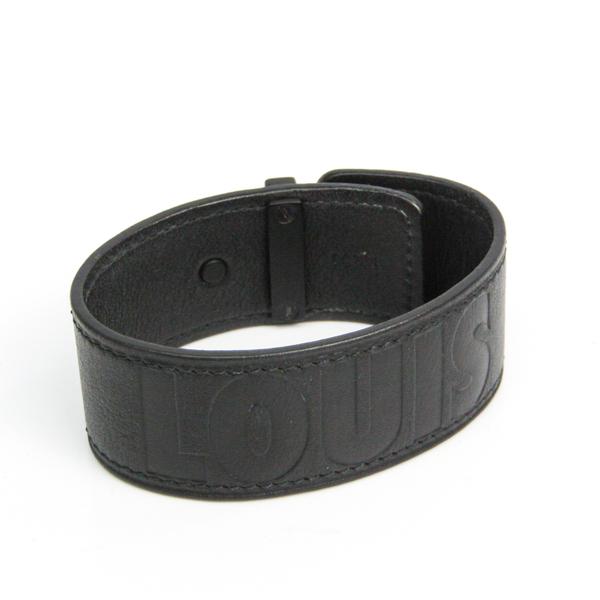 Louis Vuitton Brasle · History MP057E Leather Bangle Black