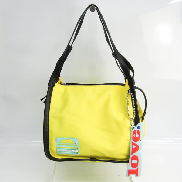 Marc Jacobs SPORT M0013670 Women's Nylon,Leather Tote Bag Black,Light Blue,Yellow