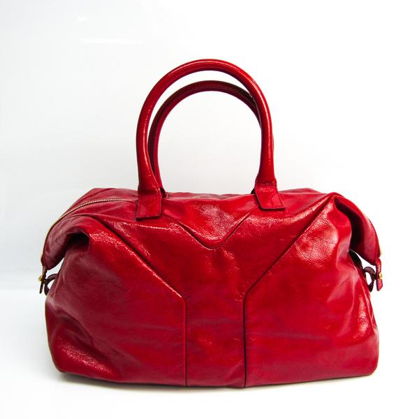 Yves Saint Laurent Easy 279077 Women's Patent Leather Handbag Red Color
