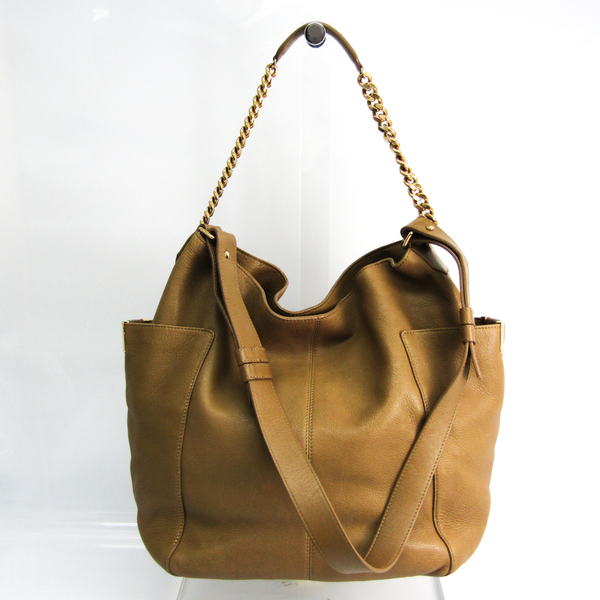 Jimmy Choo Women's Leather Shoulder Bag,Tote Bag Gray Beige