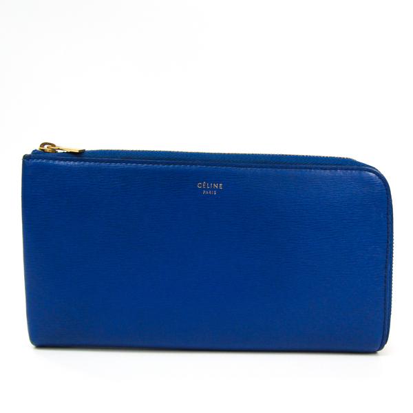 Celine Women's Leather Long Wallet (bi-fold) Royal Blue