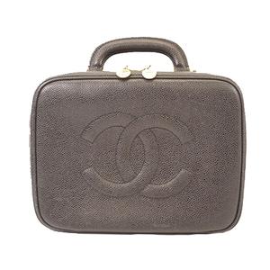 Auth Chanel Handbag Women's Caviar Leather Handbag Black