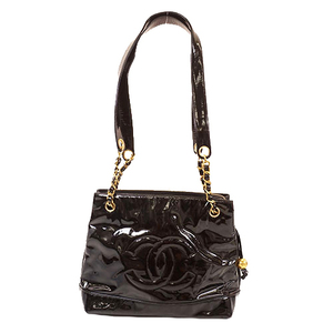 Auth Chanel Women's Leather Shoulder Bag,Tote Bag Black