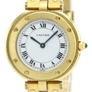 カルティエ(Cartier) サントス ラウンド クォーツ K18イエローゴールド(K18YG) レディース ドレスウォッチ