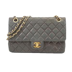 Auth Chanel Matelasse W Flap W Chain Women's Leather Shoulder