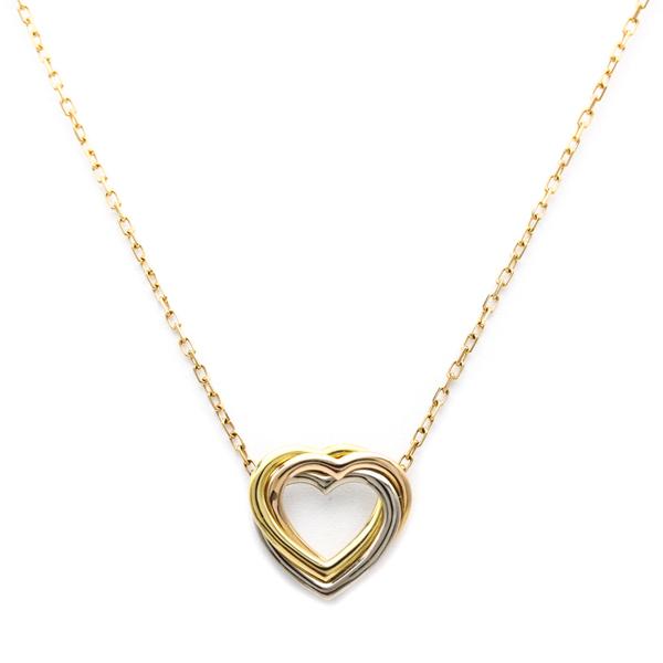 Cartier Trinity De Cartier Pink Gold (18K),White Gold (18K),Yellow Gold (18K) Women's Pendant Necklace