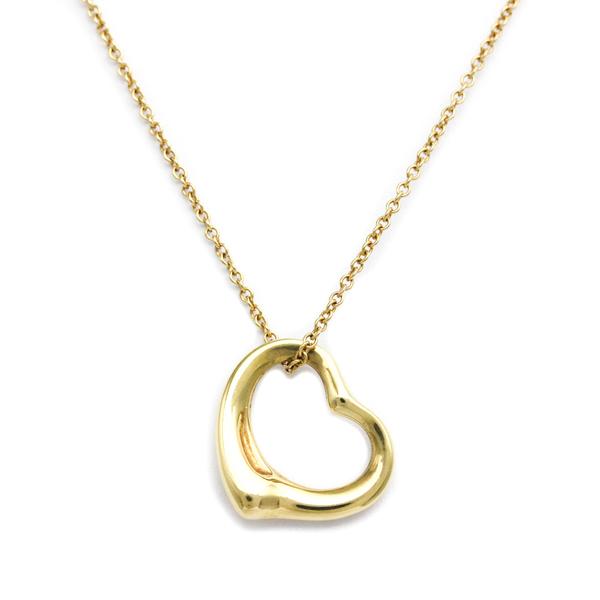 Tiffany Open Heart Yellow Gold (18K) Women's Pendant Necklace