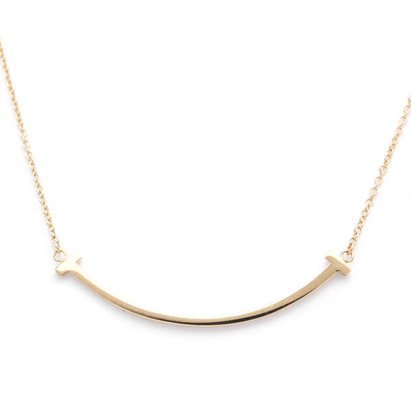 Tiffany Smile Pink Gold (18K) Women's Pendant Necklace
