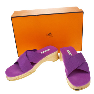 Hermes Sandals (Purple) サイズ 37