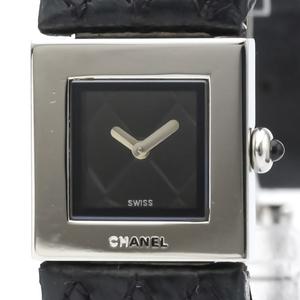 【CHANEL】シャネル マトラッセ ステンレススチール レザー クォーツ レディース 時計 H0116