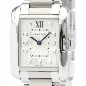 カルティエ(Cartier) タンクアングレーズ クォーツ ステンレススチール(SS) レディース ドレスウォッチ W4TA0003
