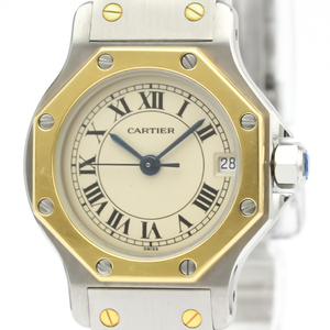 Cartier Santos Octagon Quartz Stainless Steel,Yellow Gold (18K) Women's Dress Watch 187903