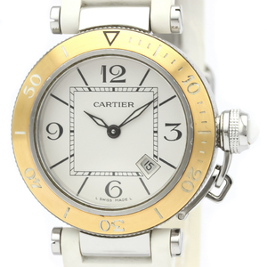 Cartier Pasha Seatimer Quartz Stainless Steel,Pink Gold (18K) Women's Dress Watch W3140001