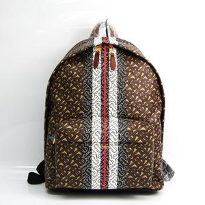 Burberry TB Monogram Stripe Print 8018651 Unisex Leather,PVC Backpack Beige,Black,Dark Brown,Red Color,White