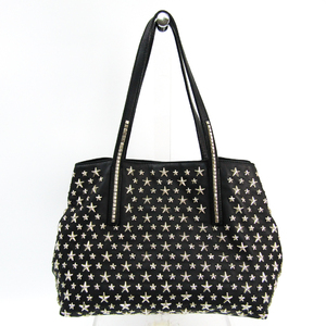 Jimmy Choo Women's Leather Studded Tote Bag Black
