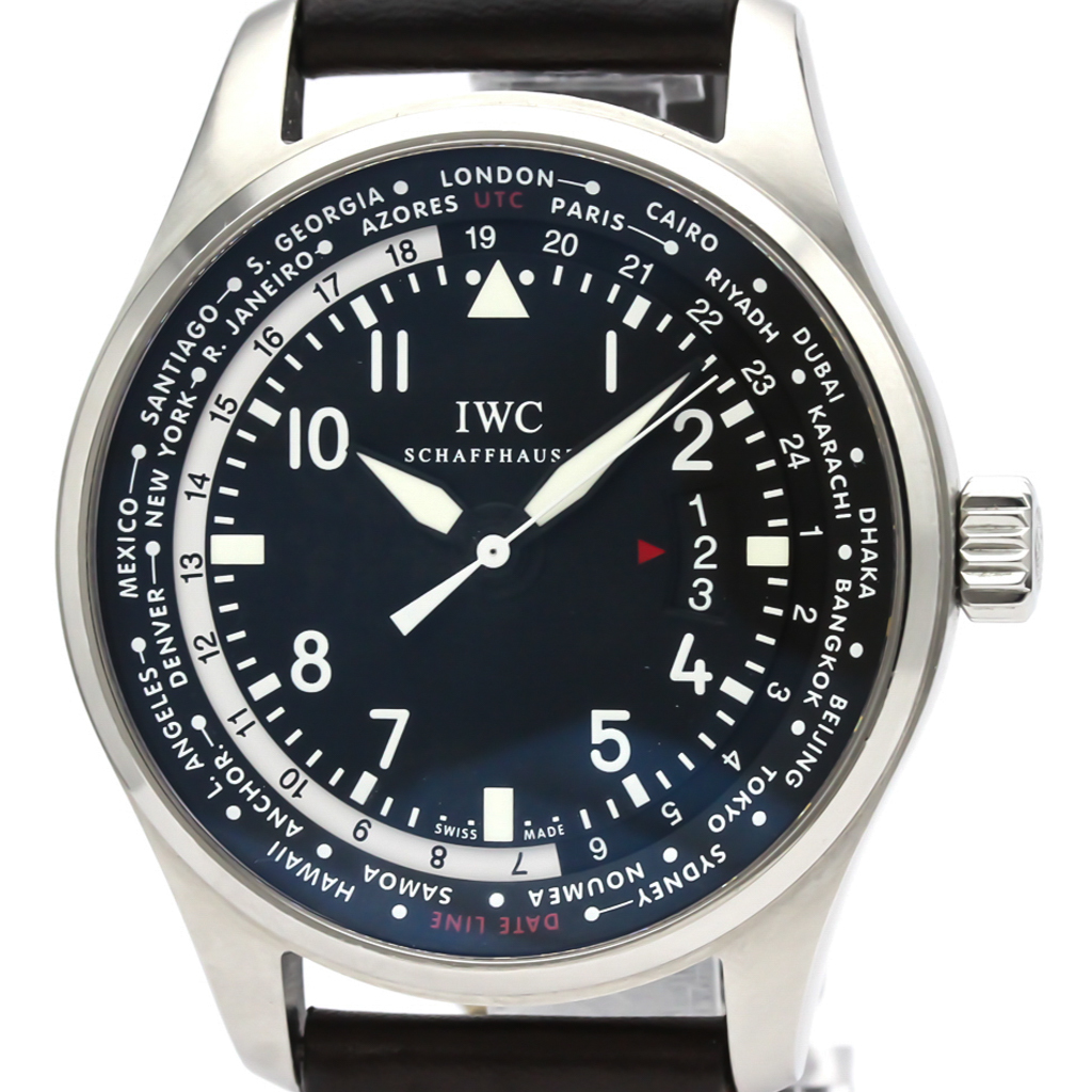 IWC パイロットウォッチ 自動巻き ステンレススチール(SS) メンズ スポーツウォッチ IW326201