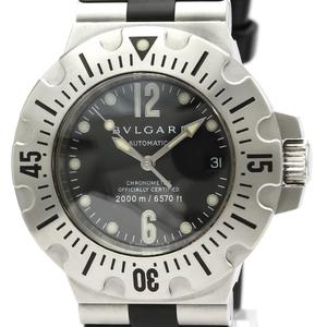 【BVLGARI】ブルガリ ディアゴノ プロフェッショナル スクーバ ステンレススチール ラバー 自動巻き メンズ 時計 SD42S