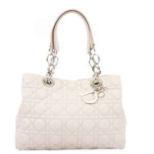 Christian Dior Cannage/Lady Dior Women's Leather Shoulder Bag Pink
