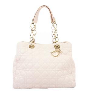 Christian Dior Cannage/Lady Dior Women's Leather Shoulder Bag Tote Bag Pink