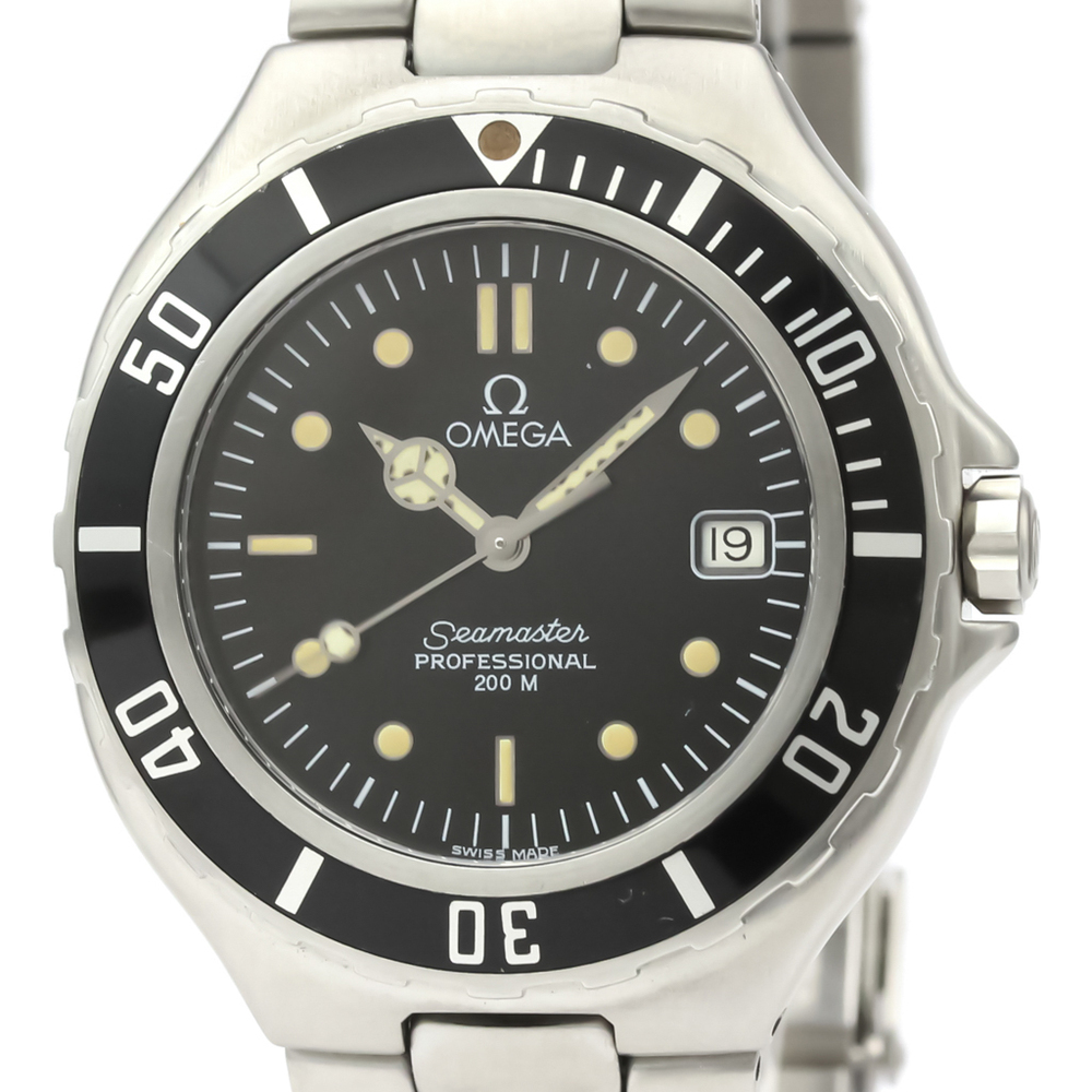 Omega Seamaster Quartz Stainless Steel Men's Sports Watch 396.1052