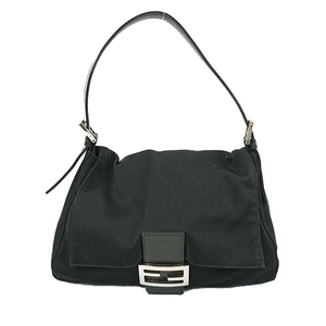 Fendi Mamma Bucket Women's Nylon Handbag Black