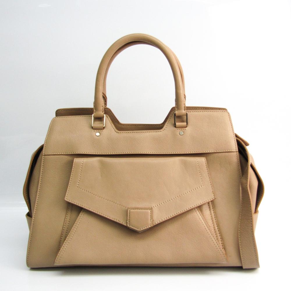 Proenza Schouler PS13 Women's Leather Handbag,Shoulder Bag Beige