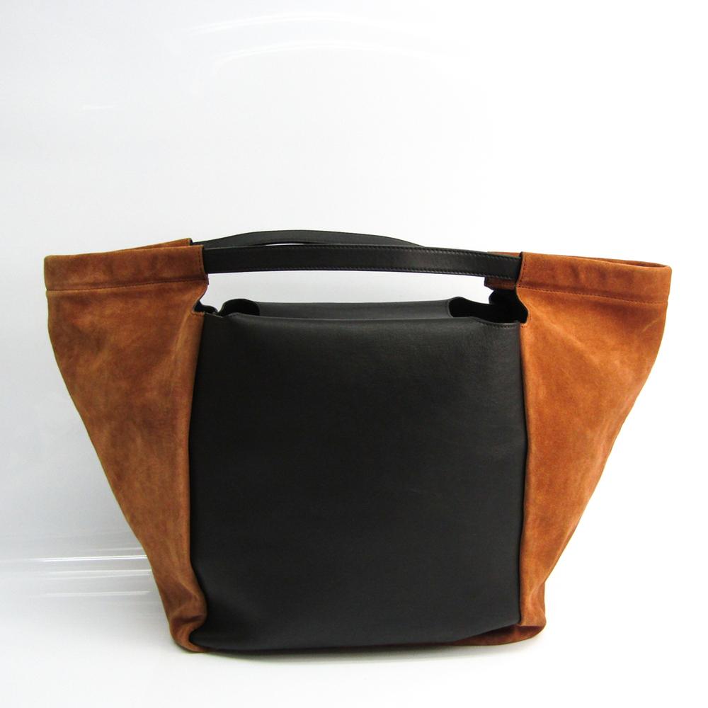 ジバンシィ(Givenchy) SHOPPING WITH ZIP BB05684532 レディース レザー,スエード トートバッグ ブラック,ブラウン