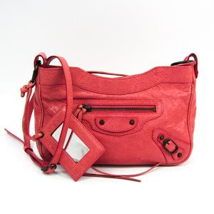 Balenciaga Classic The Hip 242803 Women's Leather Shoulder Bag Pink