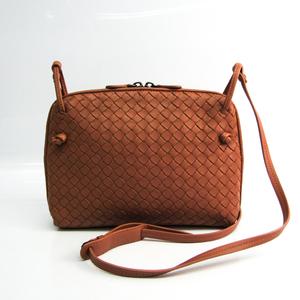 Bottega Veneta Intrecciato Women's Leather Shoulder Bag Beige Pink