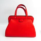 Valextra Women's Leather Handbag Red Color