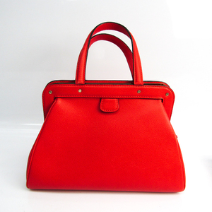 Valextra Women's Leather Handbag Red Color