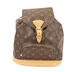 Auth Louis Vuitton Monogram Montsouris MM M51136 Women's Backpack
