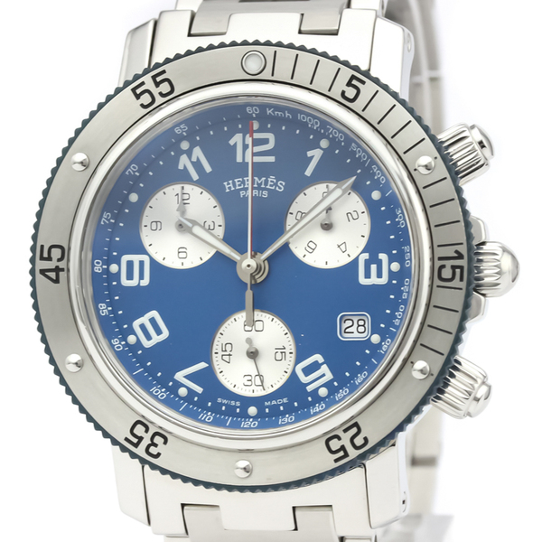Hermes Clipper Quartz Stainless Steel Men's Sports Watch CL2.917