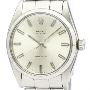 Rolex Oyster Precision Mechanical Stainless Steel Men's Dress Watch 6427