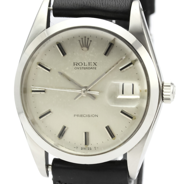 ROLEX Oyster Date Precision 6694 Steel Hand-winding Mens Watch