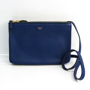 Celine Trio Small Women's Leather Shoulder Bag Royal Blue
