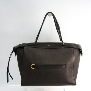 Celine Ring Bag Small Women's Leather Handbag Dark Brown