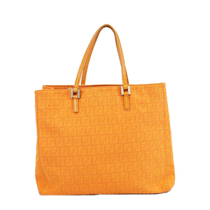 Auth Fendi Zucchino  Tote Bag Women's Tote Bag Orange