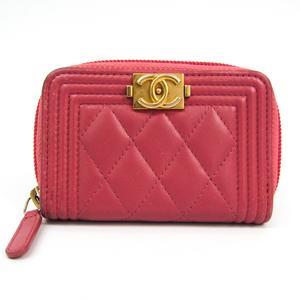 シャネル(Chanel) ボーイ・シャネル A80602 レディース レザー 小銭入れ・コインケース ピンク