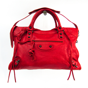Balenciaga Classic City 115748 Women's Leather Handbag,Shoulder Bag Red Color