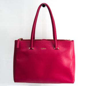 Furla LOTUS L CARRYALL BDG5 754501 Women's Leather Tote Bag Pink