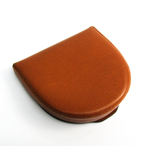 Valextra Unisex Leather Coin Purse/coin Case Camel