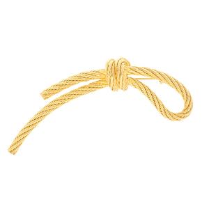 クリスチャンディオール ブローチ ロープモチーフ GPメッキ