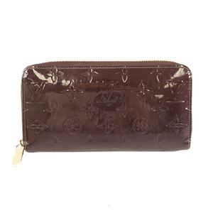 ルイヴィトン 二つ折り長財布 モノグラムヴェルニ ジッピーウォレット M93522 アマラント