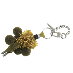 Marc Jacobs Chain Beads Fashion Keyring (Beige,Brown)