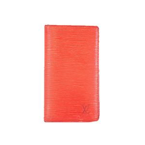 Auth Louis Vuitton Epi Planner Cover Castilian Red Agenda Poche R2052E