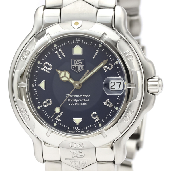 TAG HEUER 6000 Chronometer Steel Automatic Mens Watch WH5113