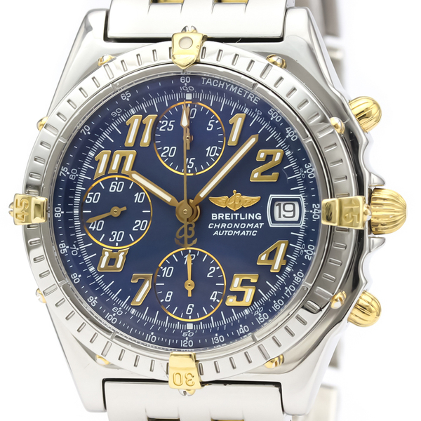 Breitling Chronomat Automatic Stainless Steel,Yellow Gold (18K) Sports Watch B13050.1