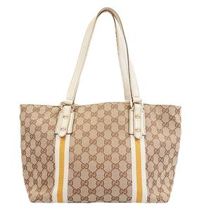 Auth Gucci GG Canvas Tote Bag 137396 Tote Bag Beige